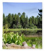 Bluff Lake Foliage 5 Fleece Blanket