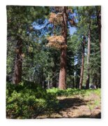 Bluff Lake Forest 6 Fleece Blanket
