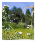 Bluff Lake Wild Flowers 2 Fleece Blanket