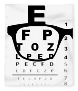Blurry Eye Test Chart Fleece Blanket