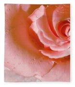 Blush Pink Rose Fleece Blanket