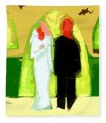 Blushing Bride And Groom 2 Fleece Blanket