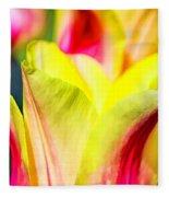 Blushing Lady Tulips Fleece Blanket