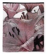 Blushing Lilies Fleece Blanket