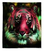 Blushing Tiger Fleece Blanket