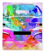 Bmw 3 Gran Turismo Fleece Blanket