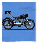 The R26 Motorcycle Fleece Blanket by Mark Rogan