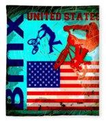 Bmx United States Fleece Blanket