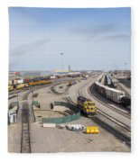 Bnsf Northtown Yard 4 Fleece Blanket