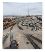 Bnsf Northtown Yard 6 Fleece Blanket