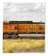 Bnsf Railway Engine Fleece Blanket