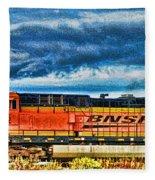 Bnsf Train Hdr Fleece Blanket