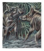 Boar Room Brawl Fleece Blanket