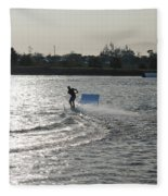 Board Jump Fleece Blanket