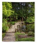 Boardwalk Bridge Maymont Japanese Garden Fleece Blanket