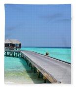 Boardwalk In Paradise Fleece Blanket
