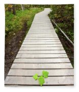 Boardwalk To Backguard Falls In British Columbia Fleece Blanket