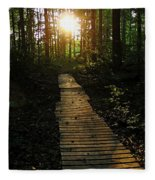 Boardwalk To The Sun Fleece Blanket