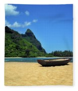 Boat And Bali Hai Fleece Blanket