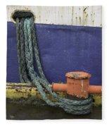 Boat Detail Husavik Iceland 3701 Fleece Blanket