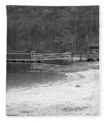 Boat Dock Fleece Blanket