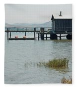 Boat House At Inverness  Fleece Blanket