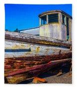 Boat In Dry Dock Fleece Blanket