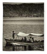 Boat - Lago De Coatepeque, El Salvador Fleece Blanket