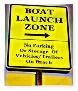 Boat Launch Fleece Blanket