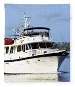 Boat On Pellicer Creek Fleece Blanket