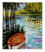 Boat On The Bayou Fleece Blanket