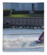 Boat On The Water Fleece Blanket