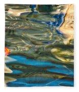 Boat Reflections - Hvar Croatia Fleece Blanket