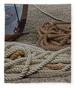 Boat Ropes Fleece Blanket