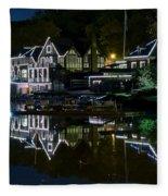 Boathouse Row Eight By Ten Fleece Blanket