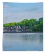 Boathouse Row From Mlk Drive - Philadelphia Fleece Blanket