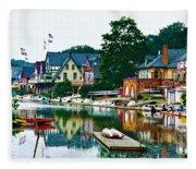Boathouse Row In Philly Fleece Blanket