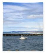 Boating At Bandon Fleece Blanket