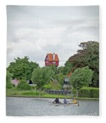 Boating In Thorpeness Fleece Blanket