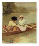 Boating On The Seine Fleece Blanket