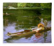 Boating Scene At Maidenhead Sir John Lavery Fleece Blanket