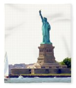Boating With Liberty Fleece Blanket