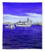 Boats Everywhere 3 Fleece Blanket