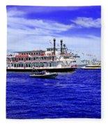 Boats Everywhere During Navy Fleet Review In Sydney Fleece Blanket