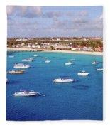 Boats  Grand Turk Fleece Blanket
