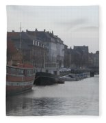 Copenhagen Waterway Fleece Blanket