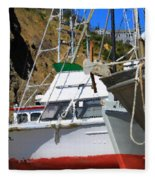 Boats In Drydock Fleece Blanket