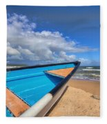 Boats In Mayaro Fleece Blanket