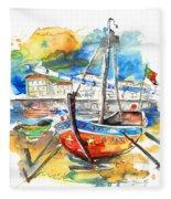 Boats In Tavira In Portugal 02 Fleece Blanket