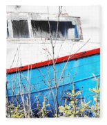 Boats In The Garden Fleece Blanket
